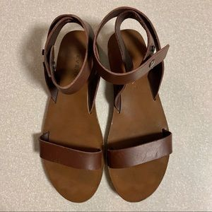 Everlane Brown Leather Ankle Strap Sandals